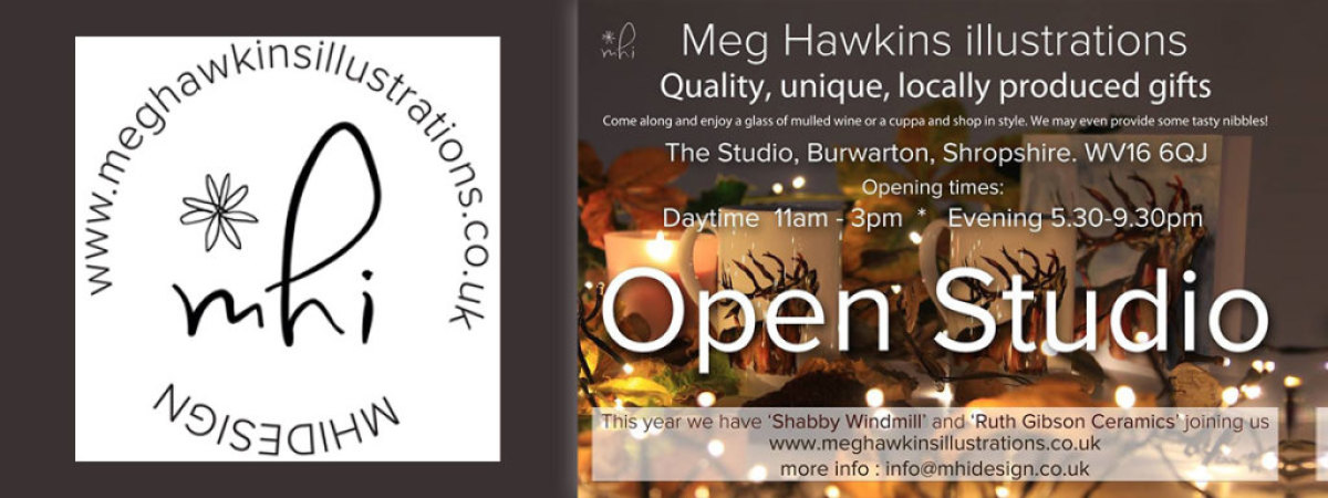 Meg Hawkins Studio Christmas Open Evening