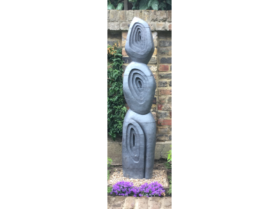 Carved brick garden sculpture - private commission