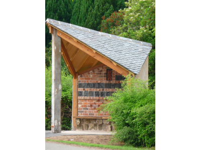 Benchart Bus Shelter II - Cross Houses Village, Shropshire
