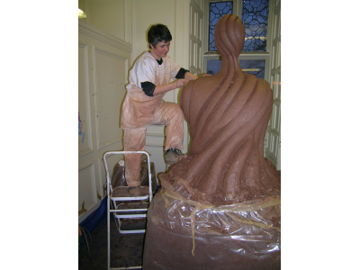 Carving Tara II in Whitehall Studios