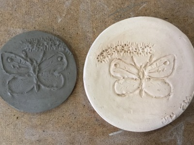 Delicate clay print