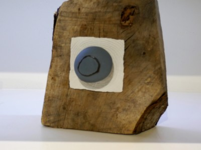 Blue Stone on Wood I