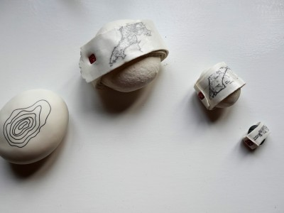 Porcelain Clay Contour and Map Stones I, II and III